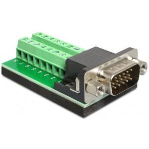 DELOCK ADAP VGA MALE -TERM BLOCK 15 PIN (65424)