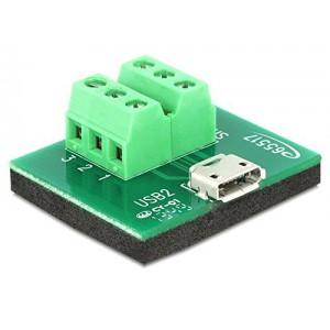 DELOCK USB2.0 MICRO-B F TERMINAL BLOCK (65517)