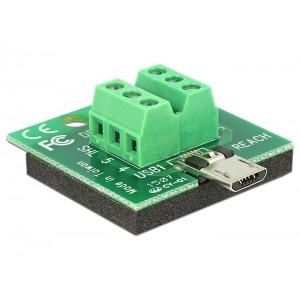 DELOCK MICRO USB M TERMINAL BLOCK (65597)