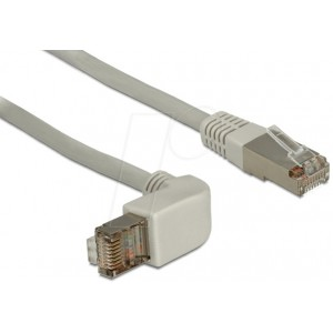 DELOCK 3M RJ45 CAT6A SSTP CABLE ANGLED GRY(83652)