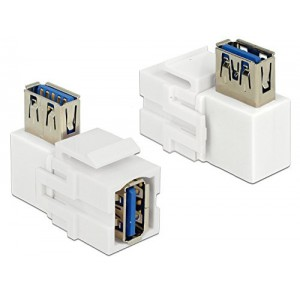 DELOCK KEYSTONE USB3.0 AF-AF 90DEG BLK (86360)