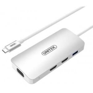 UNITEK USB3.0 TYPE-C, USBA, 2P HDMI, VGAF (Y-9116)
