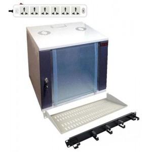 12U WALL BOX (W)600X (D)550, 1 FAN, 1SHELF