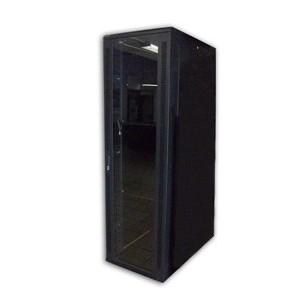 27U W600XD1000H1400,2 SHELVES,4 FANS,GLASS DOOR.. ..4 CASTORS, FLAT PANEL BACK DOOR,L PROFILE