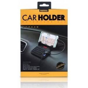 REMAX CAR PHONE HOLDER 5V/2.1A FLEXI BLK (RC-FC1)