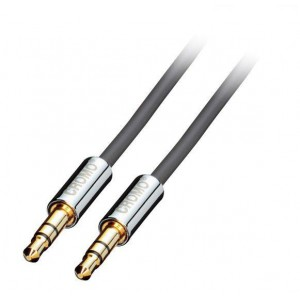 LINDY 1M 3.5MM STEREO M - M CROMO CABLE (35301)