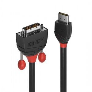 LINDY 0.5M HDMI TO DVI-D MM CBL-BLACK LINE (36270)