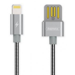 REMAX 1M AM TO LIGHTNING USB CABLE SILVER(RC-080I) ....,GOOSENECK