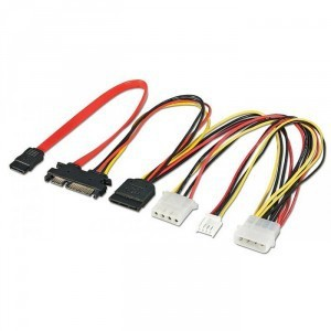LINDY 0.3M SATA EXTENSION AND Y-SPLITTER(33440)
