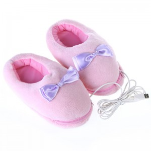 USB Powered Feet Warmer Slippers - Pink - Great for Winter