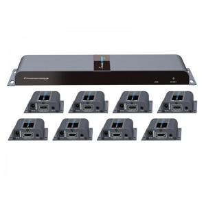 LENKENG 1X8 HDMI CAT6 EXTENDER SPLITTER - 40M
