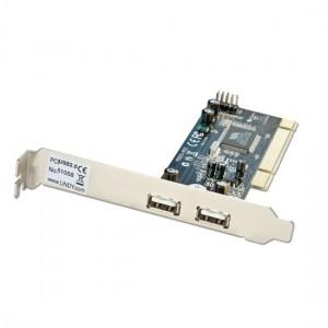 LINDY 2 EXT 2 INT USB2.0 PCI CARD (51058)