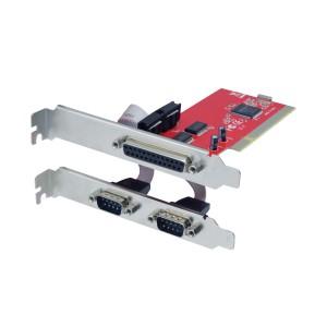 UNITEK 2-PORT + 1-PORT PAR PCI CARD (Y-7506)