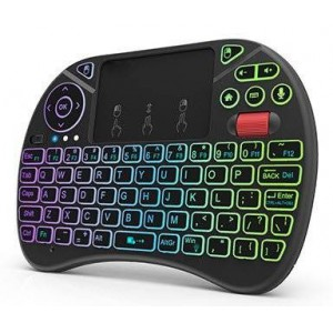 ZOWEETEK MINI WIRELESS 2.4G KBD & BACKLIT KEYS BLK