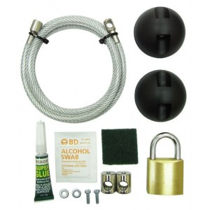 DELUX COMPUTER LOCK WITH PADLOCK (LKCP-1196).. ..07MM X 150CM