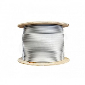 500M ROLL CAT6 SOLID NETWORK CABLE GREY **PRICE PER METER**
