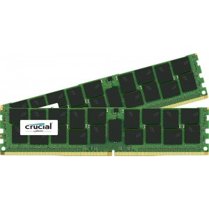 Crucial 32GB Kit (16GBx2) DDR4-2133 MT/s (PC4-2133) CL15 DR x4 ECC RDIMM Server Memory