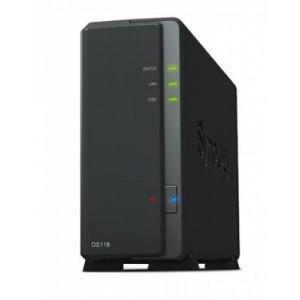 DS118 1-BAY MAX 10TB, 1GB, QC 1.4GHZ, NO HDD