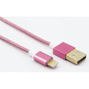 UNITEK 1.2M USB2.0 LIGHTNING CABLE, PINK(Y-C472RD)
