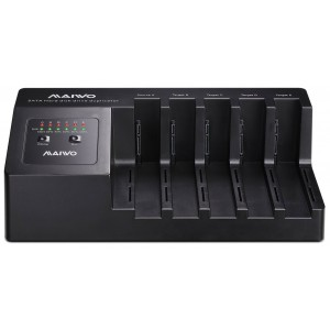 MAIWO 5-BAY SATA HDD USB3.0 CLONE STN W FAN(K3095)