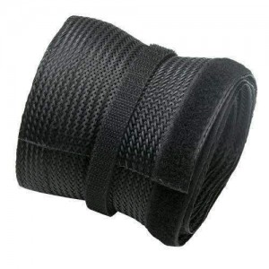 5M VELCRO POLYESTER CABLE SOCK, 85MM WIDE