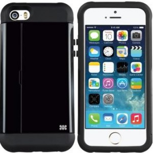 Promate 6959144003559 Pocket.i5 iPhone 5 Shock Proof  Rubberized Case with Card Holder