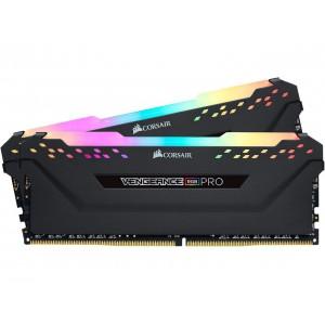 CORSAIR 16GB DDR4; 2666MHZ; VENGEANCE RGB PRO; DUAL KIT; RGB LED; BLACK HEATSPREADER