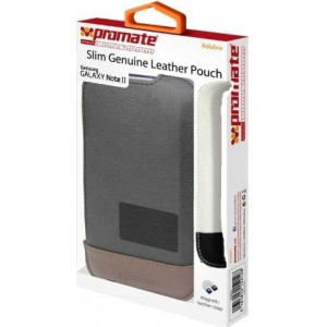 Promate 3161815152128 Kolabro-Slim-line Protective Genuine Leather Pouch Case for Galaxy Note II
