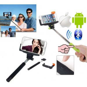 Geeko Z07-5-WHITE Monopod Selfie Stick for Mobile Phone