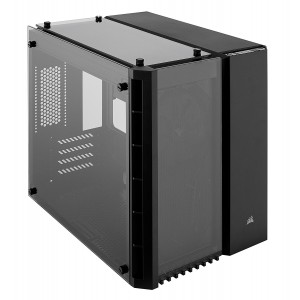 Corsair CC-9011134 280X Crystal Tempered Glass Micro ATX PC Case - Black