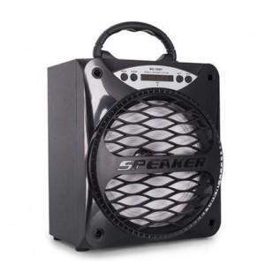 Microworld KTS861A-BLK Portable Speaker + Radio Black