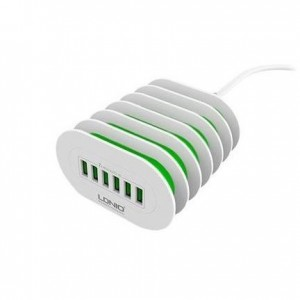 LDNIO 6 Port USB Wall Desk Charger - 7 A (Amp)