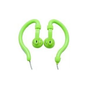 Geeko YESHSP-101-GRN Innovate Hook On Ear Dynamic Stereo Earphones- Green