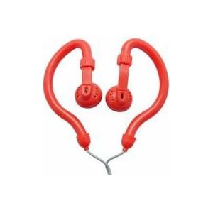Geeko YESHSP-101-RED Innovate Hook On Ear Dynamic Stereo Earphones-Red
