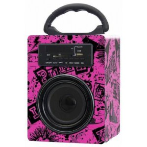Polaroid PBS335 Rock Black and Pink Bluetooth Speaker