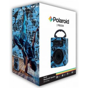 Polaroid PBS334 Punk Black and Blue Bluetooth Speaker