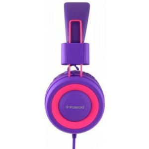 Polaroid PHP8602 Pink and Purple Headphones In Line Microphone