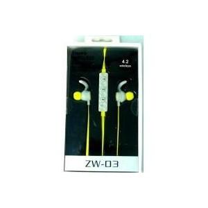 Geeko ZW-03-YLW  Yellow Wireless Bluetooth Earphones
