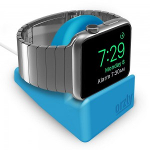 Orzly 3WATSTANDMINIBLU Night Stand Mini for Apple Watch Series 1/2/3 -Blue