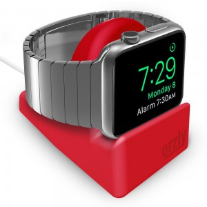 Orzly 3WATSTANDMINIRED Night Stand Mini for Apple Watch Series 1/2/3 -Red