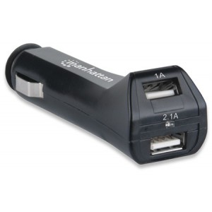 Manhattan 101721 PopCharge Auto Duo - Automotive USB Charger with 2 Ports