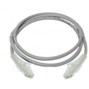Linkbasic FLY-6A-1 1 Meter UTP Cat6a Patch Cable Grey