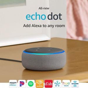 Amazon All-New Echo Dot (3rd Generation) - Heather Gray