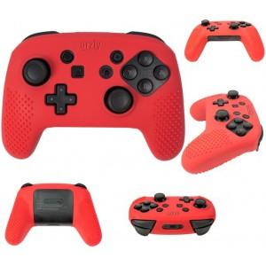 Orzly 2NSWPROCONTFLXRED FlexiCase for Nintendo Switch Pro Controller - Red