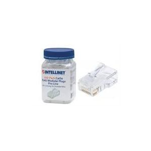 Intellinet 790581 100-Pack Cat5e RJ45 Modular Plugs Pro Line