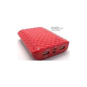 ifatel SPB-10400-RD Power Bank 10400 MAh Capacity with Flash Light - Red