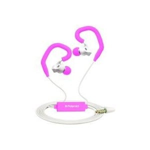 Polaroid PHP742PINK Pink Sports Earbuds with Built in Mic