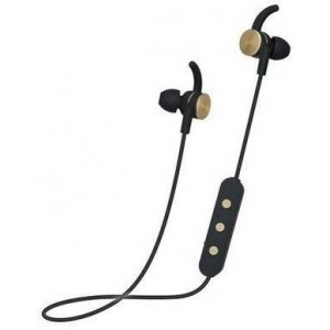 Polaroid PBE111 Bluetooth In-Ear Black and Gold Bluetooth Earbuds