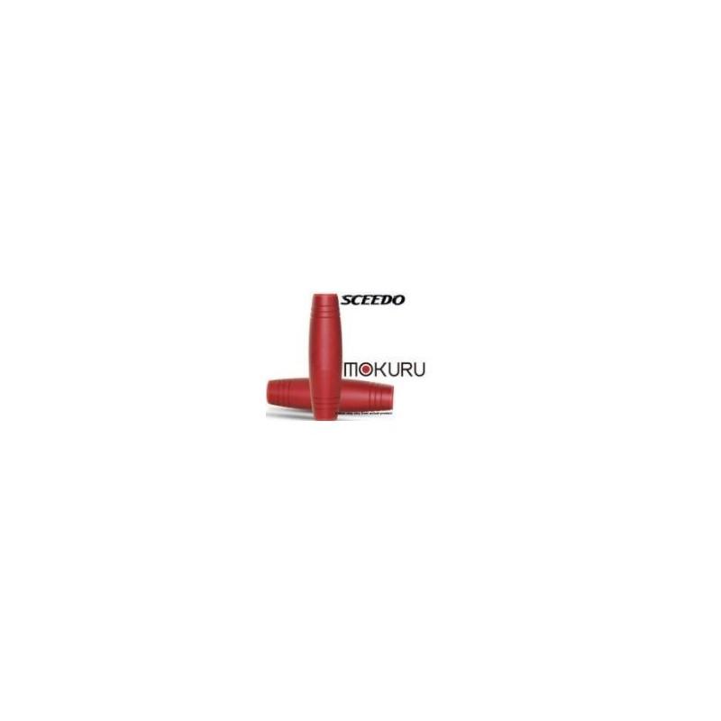 Sceedo SCMKMTLDORG01 Mokuru Metal Finish Dark Red Orange Fidget Stick Stress Toy