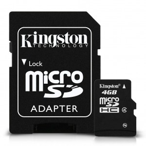 Kingston 4GB microSDHC Flash Card Model SDC4/4GB